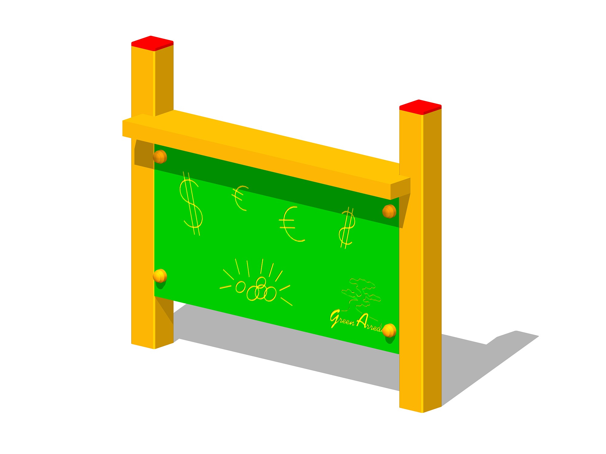 Altalena trave acciaio seduta disabili legno for Green arreda